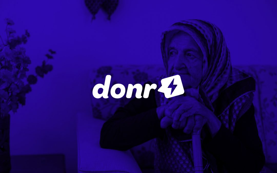 Now you donate via Donr!
